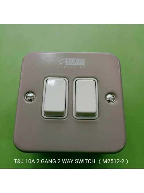 T&J Metal Cladd 2G 2W Switch M2512-2