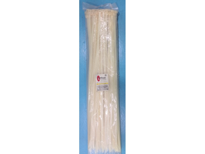"9(26"") x 650mm Cable Tie (100pcs) -White"